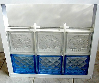 Glass brick installation methods for Glass block window frame