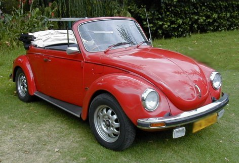 Volkswagen Beetle Convertible Red. Picture Gallery of Cars in